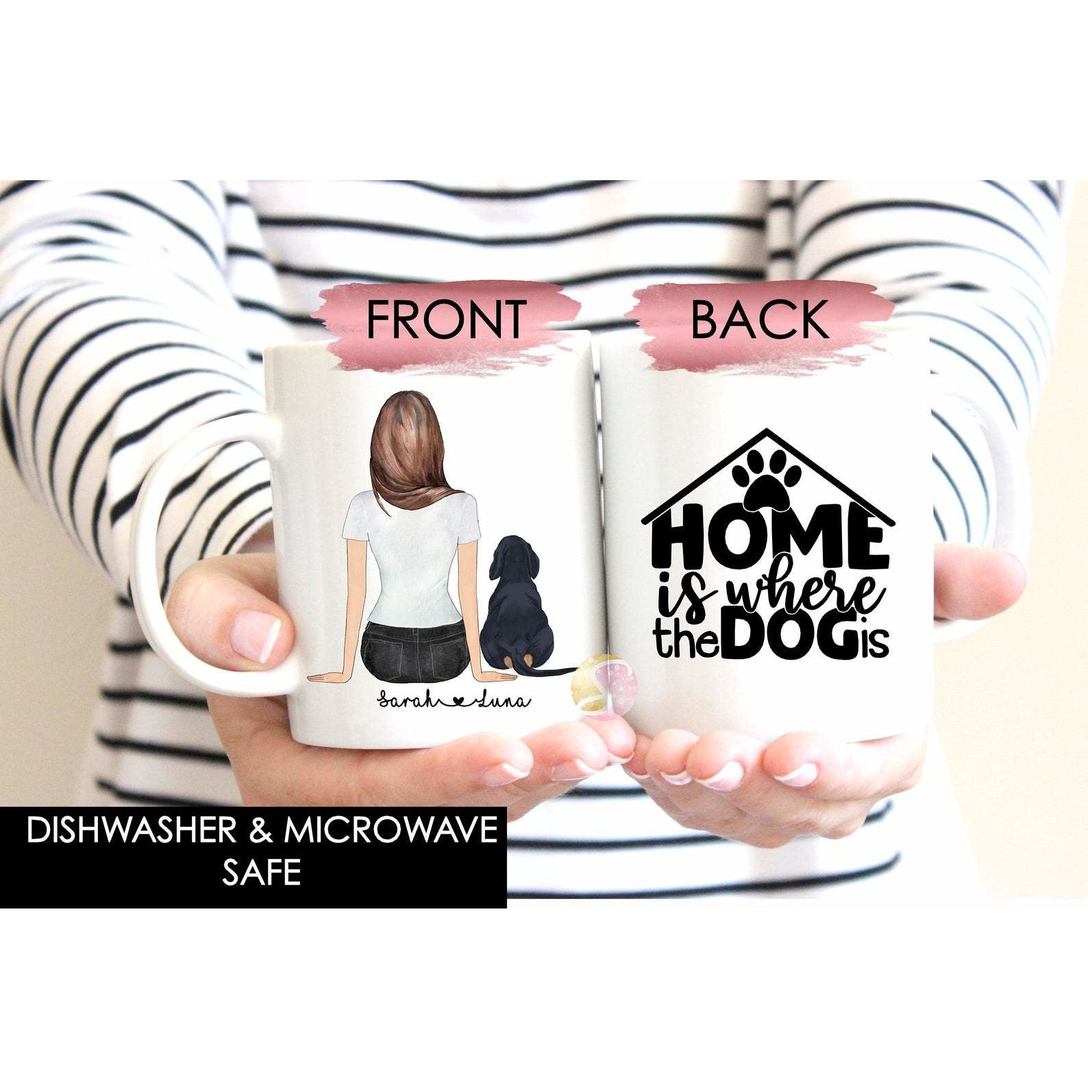 Personalised Mug - Home Is Where The Dog Is