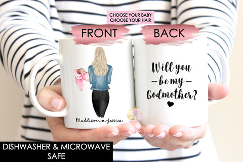 Personalised Will You Be My Godmother Mug
