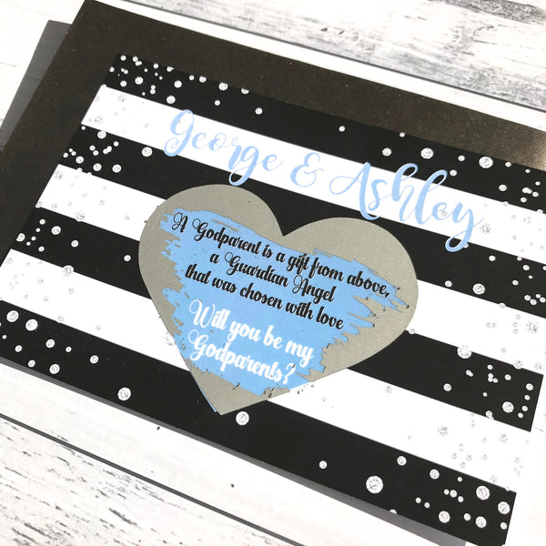 Personalised Scratch Off Glitter Godparent Proposal Card