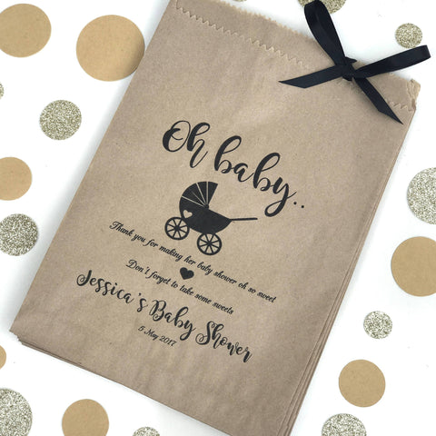Personalised Lolly Donut Paper Bags - #Oh Baby