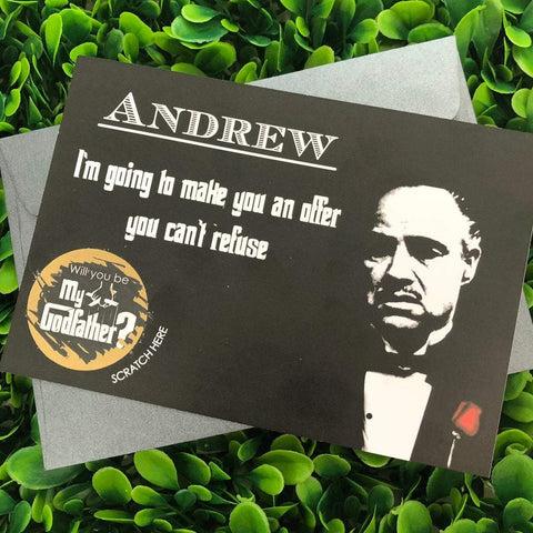 Personalised Scratch Off Will You Be My Godfather - The Godfather Card