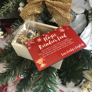 Personalised Magic Reindeer Food Keepsake Box Australia