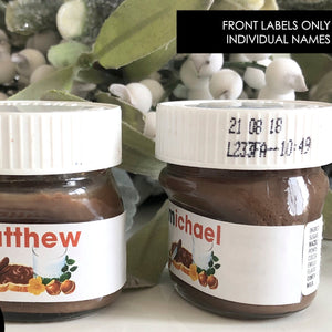 Personalised Individual Names Nutella Mini 30g or 25g Labels Stickers