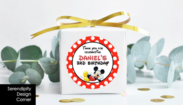 Personalised Mickey Mouse Pop Top Labels
