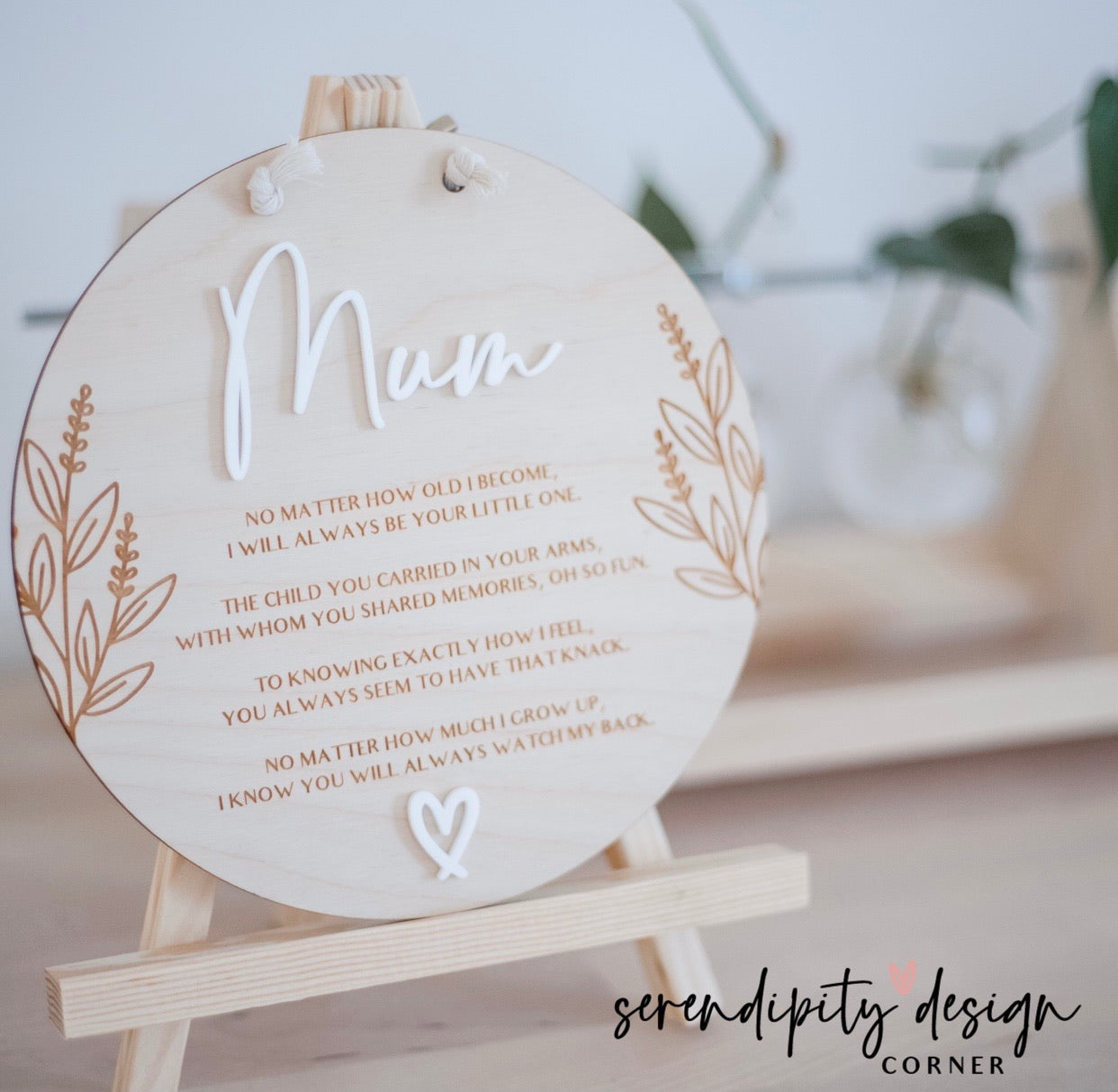 Personalised Mother's Day Wooden Sign | Mum Plaque