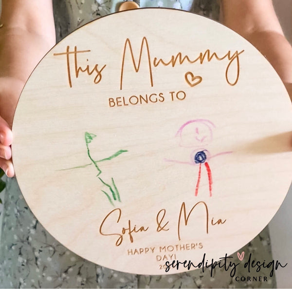 Mother's Day Drawing | Wooden Mother's Day Sign