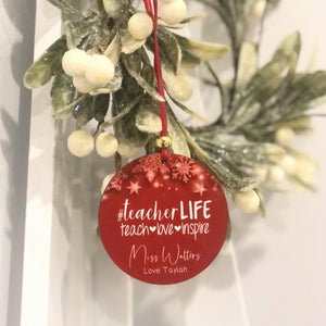 Personalised Teacher Gift - Christmas Ornament