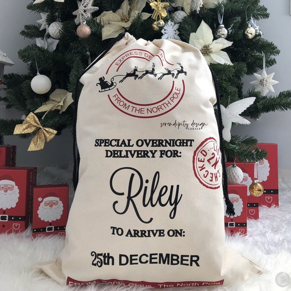Personalised Christmas Santa Sack - Xmas