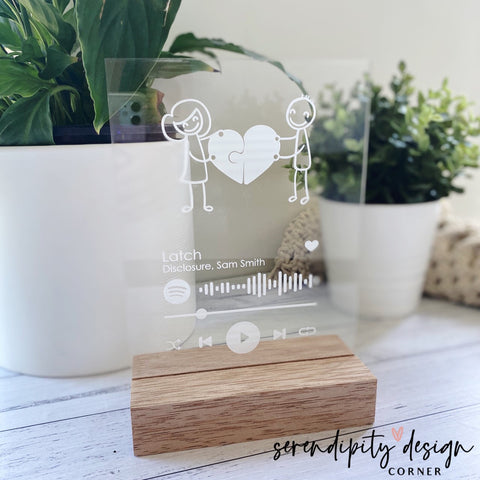 Spotify Code Frame | Wedding Puzzle Frame | Spotify Wedding Frame