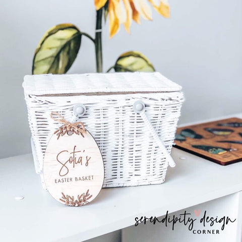 Personalised Easter Egg Wooden Gift Tag