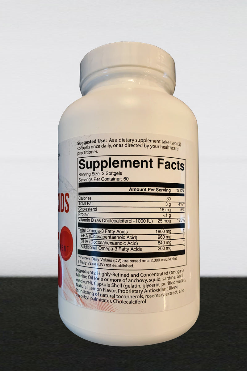 Omega 3 Fatty Acids - Purified & Highly Absorbable