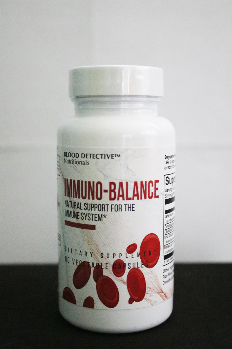 Immunobalance is a scientifically balanced immune formula containing several nutritional products studied to help regulate immune function