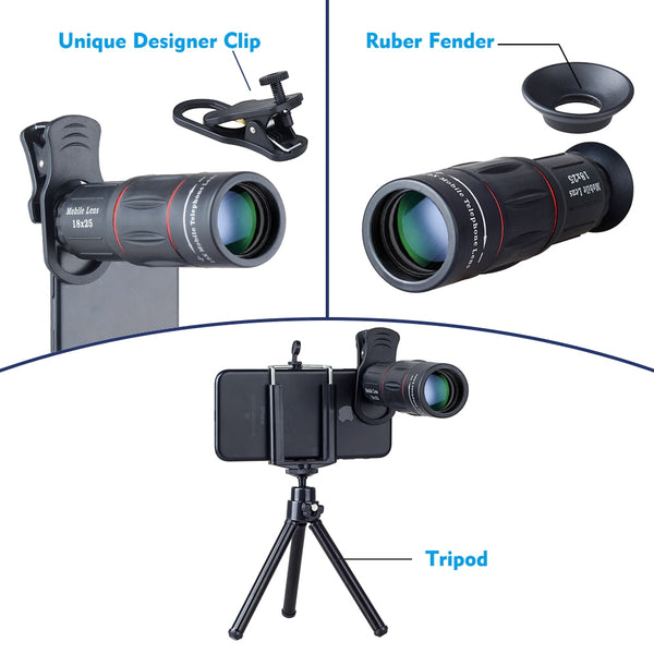 APEXEL 18X Telescope Zoom Lens For Mobile Phone