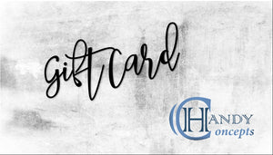 Gift Card, white  Handy Concepts Arts