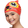 Silicone Swimming Cap for Kids - Children Swim Cap for Boys and Girls Aged 4-12 - Fun Junior Swim Cap