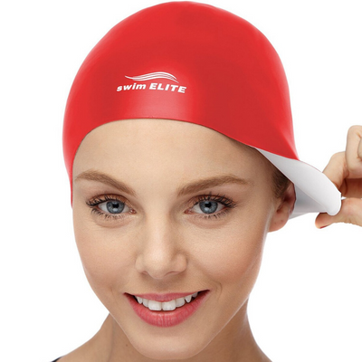 2-in-1 Premium Silicone Swim Cap - Reversible - Wear It On Both Sides - Wrinkle-Free Swimming Cap