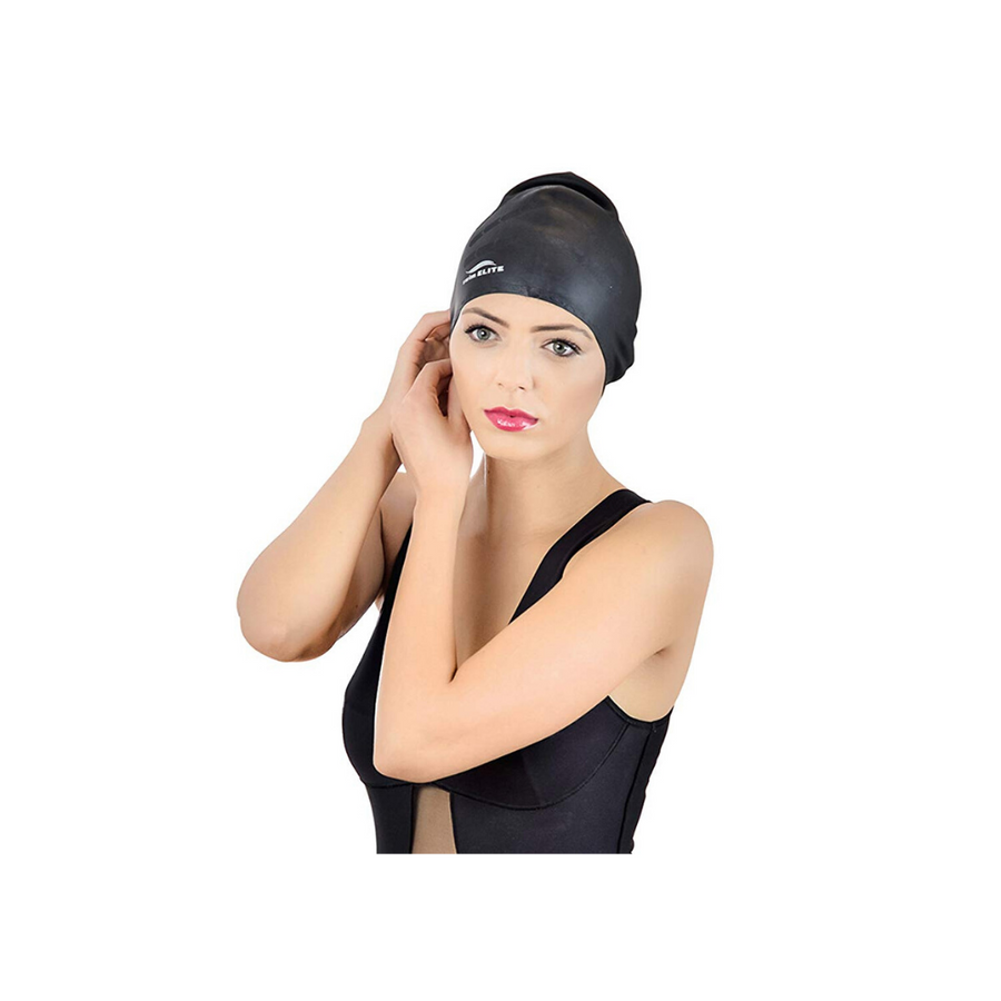 Silicone Swimcap for Long Hair - Swimming Caps for Women & Men - Bathing Cap to Keep Your Hair Dry