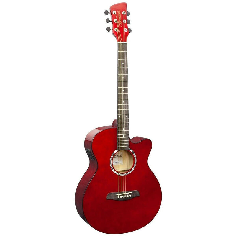 BRUNSWICK GRAND AUDITORIUM ELECTRO ACOUSTIC GUITAR DARK RED GLOSS