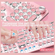 Load image into Gallery viewer, Pink Metal Backlit Mechanical Keyboard | Odamiry