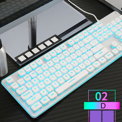 Red Switches LED Backlight Game Keyboard | Odamiry