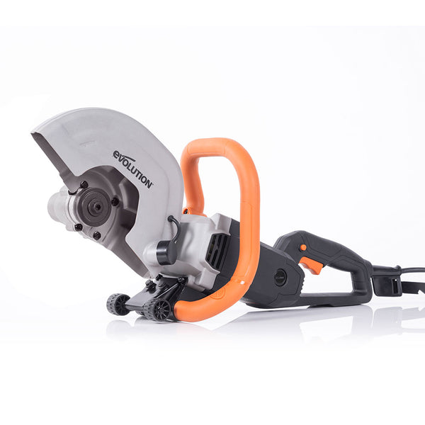 Evolution R255DCT 10 in. Electric Concrete Cut-Off Saw, Demo Saw, Disc Cutter (Optional Blades)