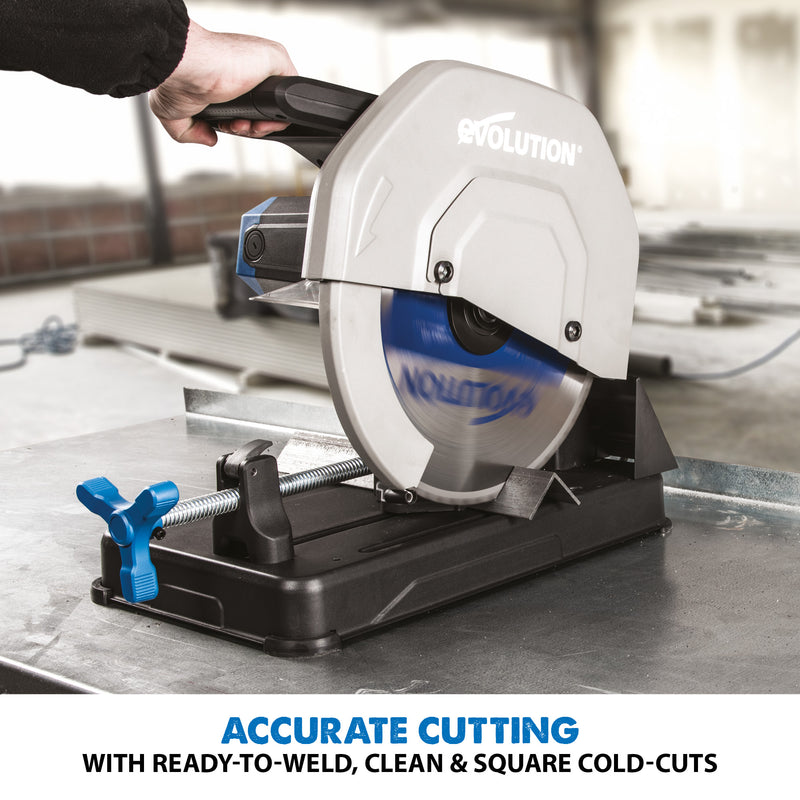 S355CPSL: Metal Cutting Chop Saw With 14 in. Mild Steel Blade - Evolution Power Tools LLC
