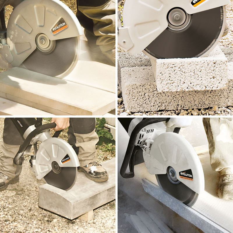 Electric Concrete Saw with 12 in. Diamond Blade - Evolution Power Tools LLC