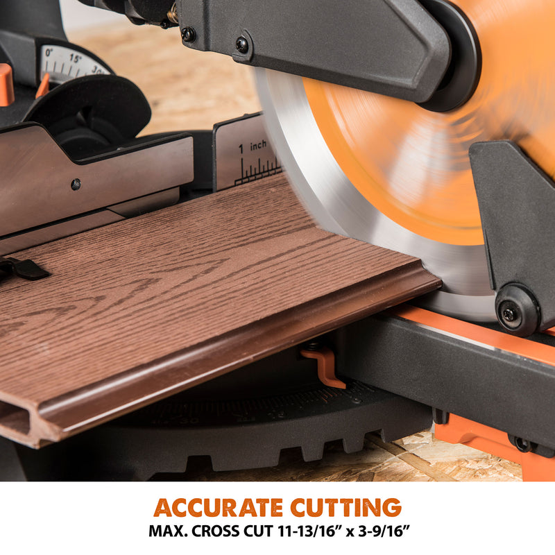 R255SMS+: Sliding Miter Saw With 10 in. Multi-Material Cutting Blade - Evolution Power Tools LLC
