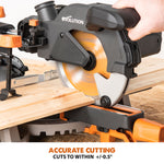 R185SMS: Sliding Miter Saw With 7-1/4 in. Multi-Material Cutting Blade - Evolution Power Tools LLC
