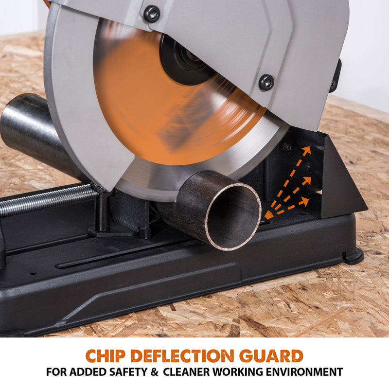 R355CPS: Multi-Material Cutting Chop Saw With 14 in. Blade - Evolution Power Tools LLC