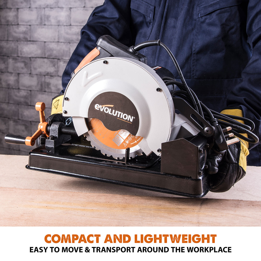 RAGE4: Multi-Material Cutting Chop Saw With 7-1/4 in. Blade - Evolution Power Tools LLC