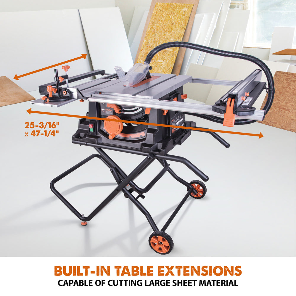 RAGE5-S: Multi-Material Cutting Table Saw With 10 in. Blade - Evolution Power Tools LLC