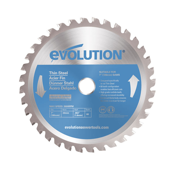 7 in. Thin Steel TCT Blade - Evolution Power Tools LLC