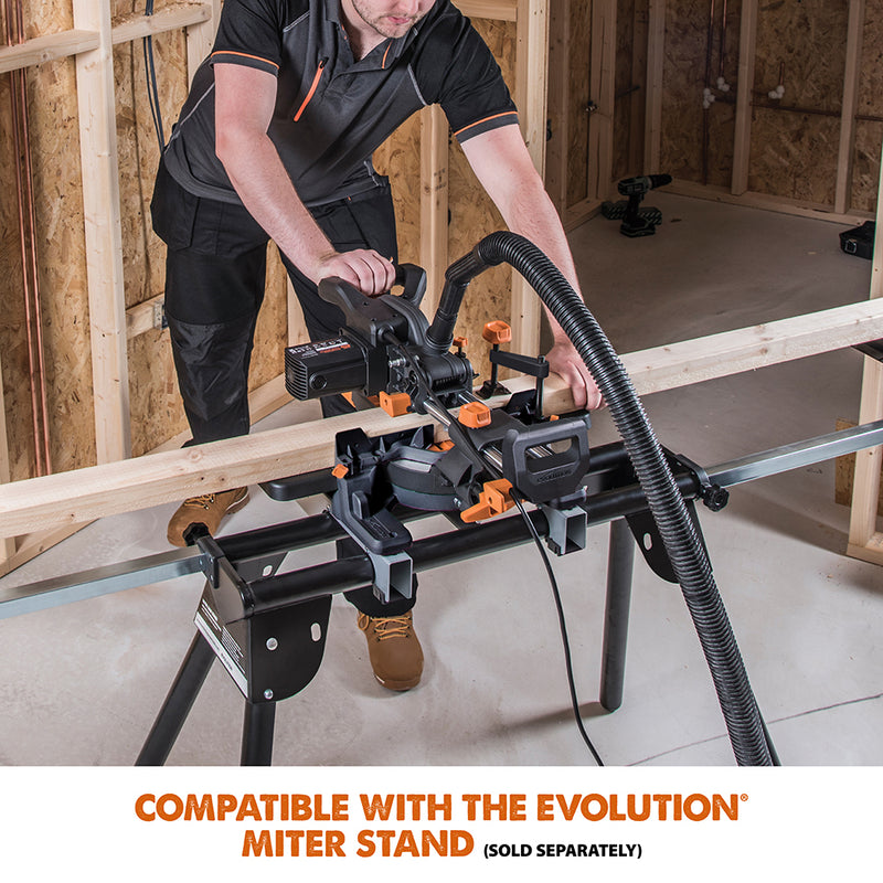 R185SMS+: Sliding Miter Saw With 7-1/4 in. Multi-Material Cutting Blade - Evolution Power Tools LLC
