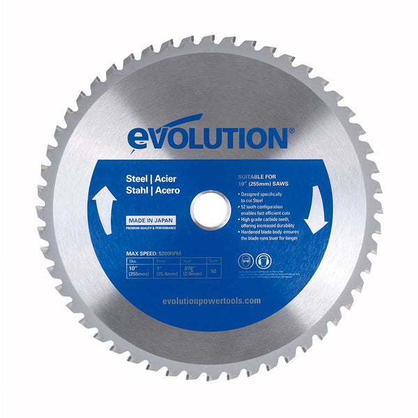 10 in. Mild Steel TCT Blade - Evolution Power Tools LLC