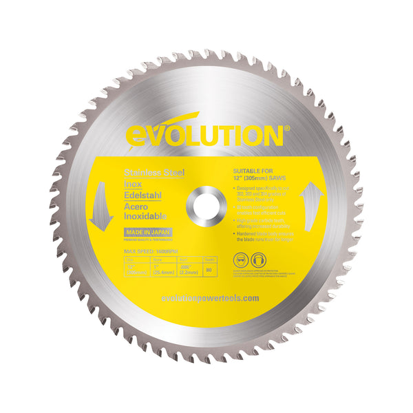 12 in. Stainless Steel TCT Blade - Evolution Power Tools LLC