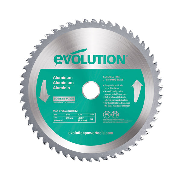 Evolution 7 in. 54T, 25/32 in. Bore, Tungsten Carbide Tipped Aluminum and Non-Ferrous Metal Cutting Blade