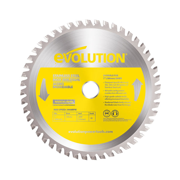 Evolution 7 in. 48T, 25/32 in. Bore, Tungsten Carbide Tipped Stainless Steel Cutting Blade