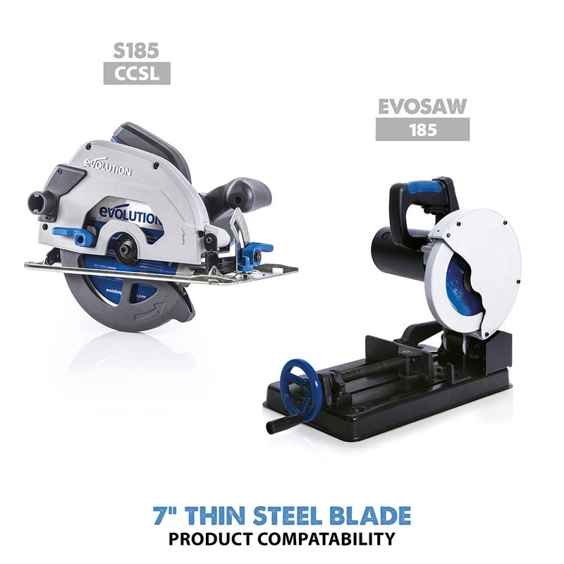 Evolution 7 in. 68T, 25/32 in. Bore, Tungsten Carbide Tipped Thin Steel and Ferrous Metal Cutting Blade