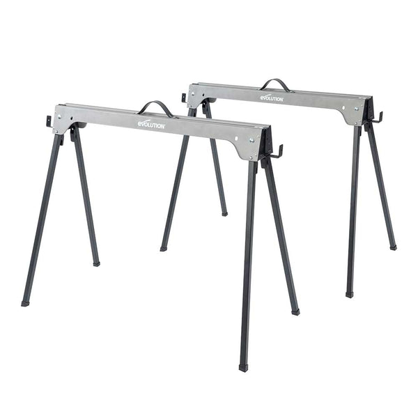 Evolution Folding Metal Saw Horse / Trestle Work Stand Twin-Pack