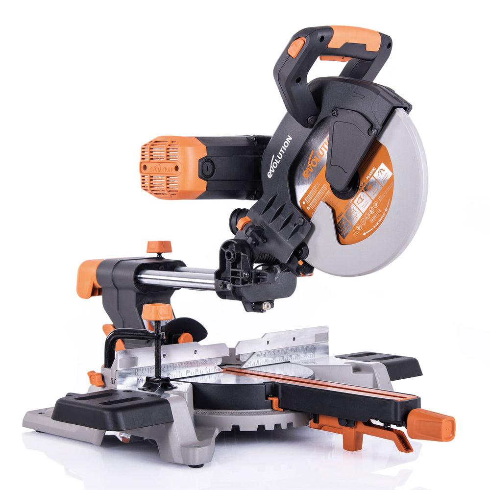 R255SMS-DB: Dual Bevel Sliding Miter Saw With 10 in. Multi-Material Cutting Blade - Evolution Power Tools LLC
