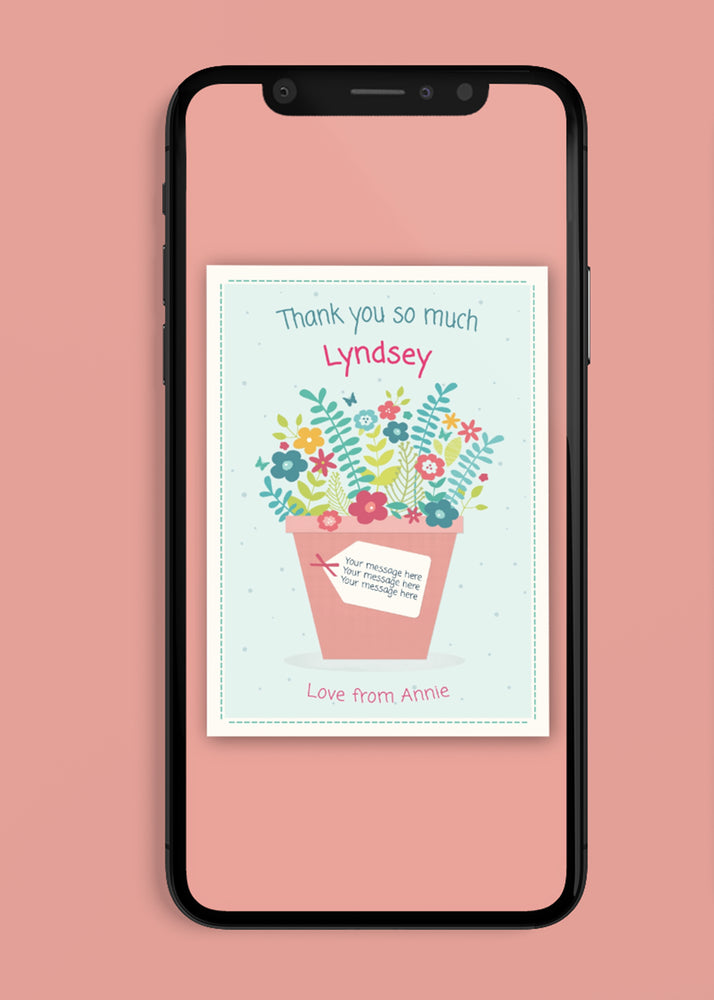 Load image into Gallery viewer, Flowers Thank You Digital Card
