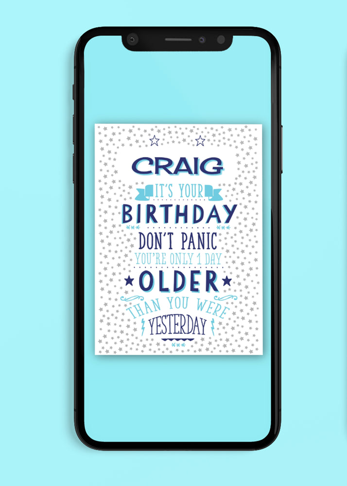 Don't Panic Birthday Digital Card
