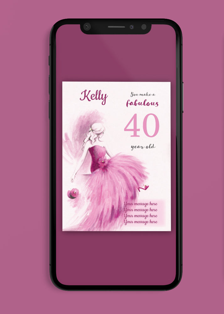 Load image into Gallery viewer, A Fabulous Birthday Digital Card