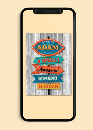 Load image into Gallery viewer, Awesome Birthday Digital Card