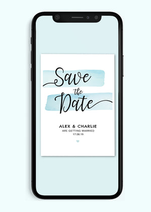 Load image into Gallery viewer, Save The Date Digital Invitation