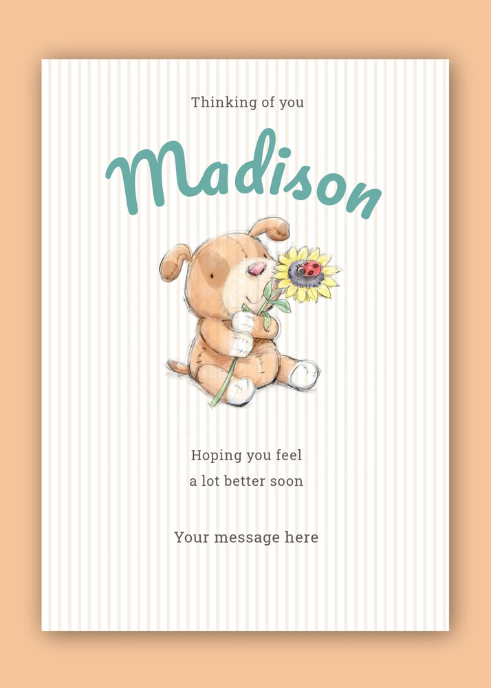 Teddy Thinking Of You Digital Card