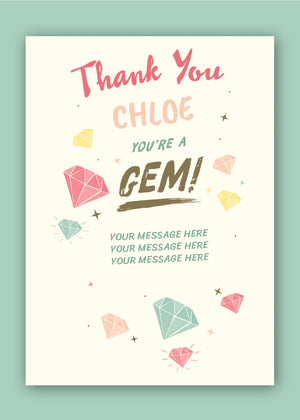 Gem Thank You Digital Card