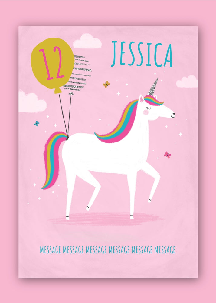 Unicorn Kids Birthday Digital Card