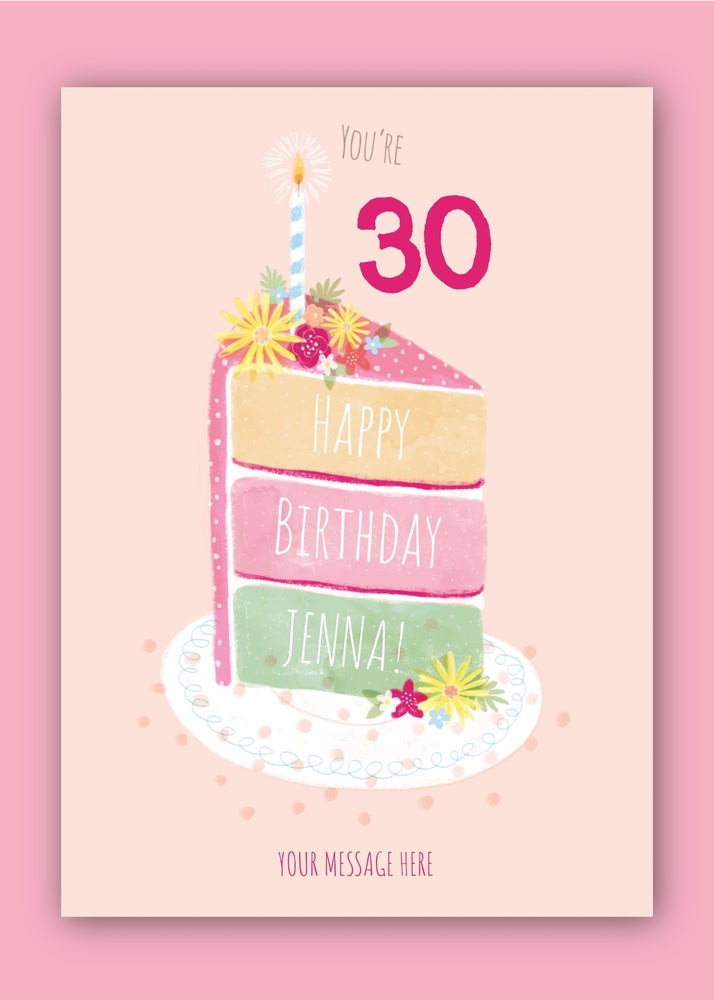 Cake Number Birthday Digital Card